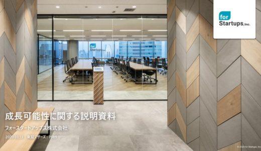 【フォースタートアップス株式会社】成長可能性に関する説明資料(2020年3月13日)