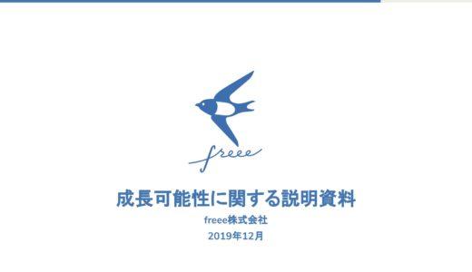 【フリー株式会社】成長可能性に関する説明資料(2019年12月17日)