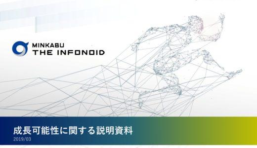 【株式会社ミンカブ・ジ・インフォノイド】成長可能性に関する説明資料(2019年3月19日)