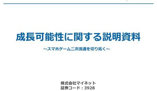 【株式会社マイネット】成長可能性に関する説明資料(2015年12月21日)