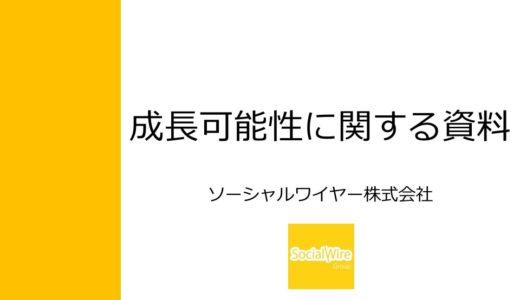 【ソーシャルワイヤー株式会社】成長可能性に関する説明資料(2015年12月24日)